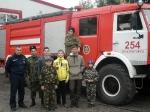 Православный казачий центр в гостях у пожарных-спасателей